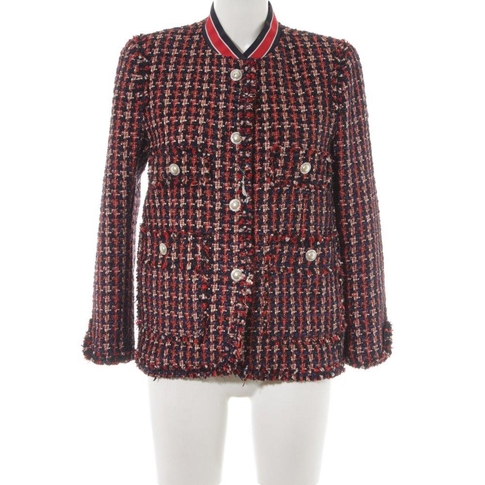 Zara Blazer Tweed rojo ladrillo