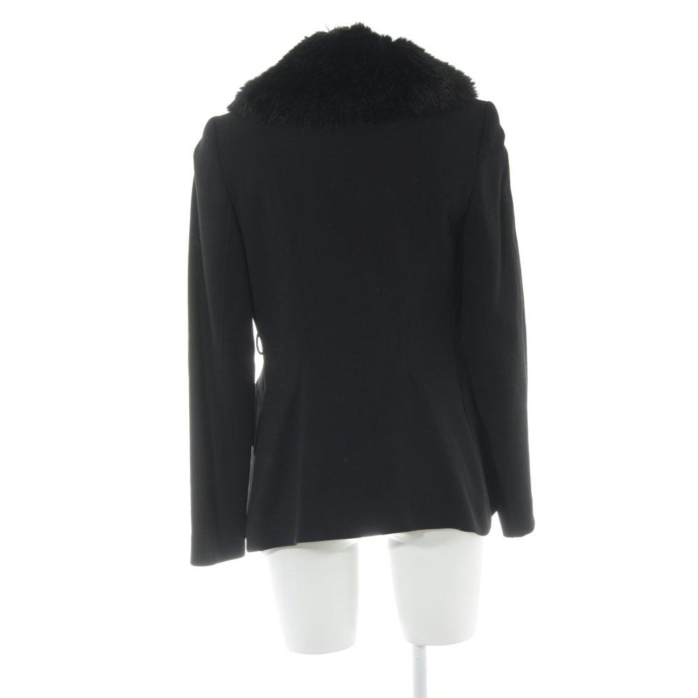 ZARA WOMAN Veste cache coeur noir élégant Dames T 38 | eBay