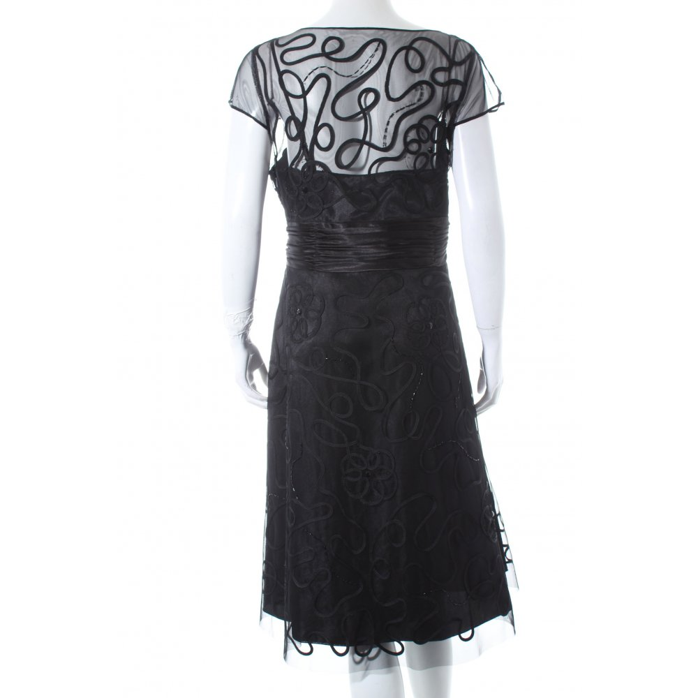 zero a linien kleid schwarz eleganz look damen gr de 44 dress a line dress ebay. Black Bedroom Furniture Sets. Home Design Ideas