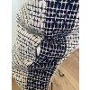 Blau-Weißes ZARA Etuikleid mit schönem Rückenausschnitt