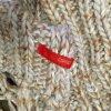 Esprit Écharpe en tricot bleu pâle-beige laine