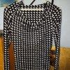 Expresso Kleid Wasserfallausschnitt schwarz/weiss Gr.36 S *wie neu*