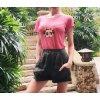 Frida Kahlo Tee T-shirt bestickt Boho Bohemian Ibiza blogger