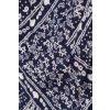 H&M Carmen-Bluse blau-weiß Allover-Druck Casual-Look