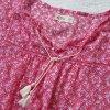 Hollister * %Summer SALE% Traum Chiffon Tunika * koralle-weiß Tasseln * S=36/38