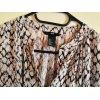lange, ärmellose Bluse in Reptilien-Print/ Größe 36