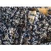 Leichte Sommerhose Gummizug Casual Floraler Print  blau weiß  Gr 38 40