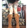 Minnetonka Natural Indianer Festival Pocahontas Schnürstiefel Wildleder Ethno Boots 41