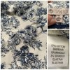 Neue 7/8 Baumwollhose, weiß-blaues Muster, passend für Gr. 36