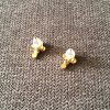 Ohrringe Stecker Kreuz gold wasserfest
