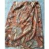 Preissenkung! Rock aus Seide von Dana Buchman - beige-braun-orange - Gr. 36/38(USA 6)