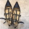 Topshop Rockstud Nieten Sandalen Gladiator begehrt Leder Gr. 36 neuwertig Blogger