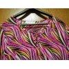 Tunika v. Couture Line, pink-gemustert mit Straßsteinchen-Besatz