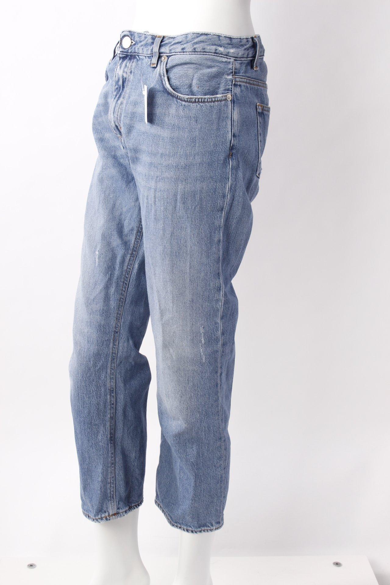 acne karottenjeans helle waschung damen gr de 36 stahlblau jeans baumwolle ebay. Black Bedroom Furniture Sets. Home Design Ideas