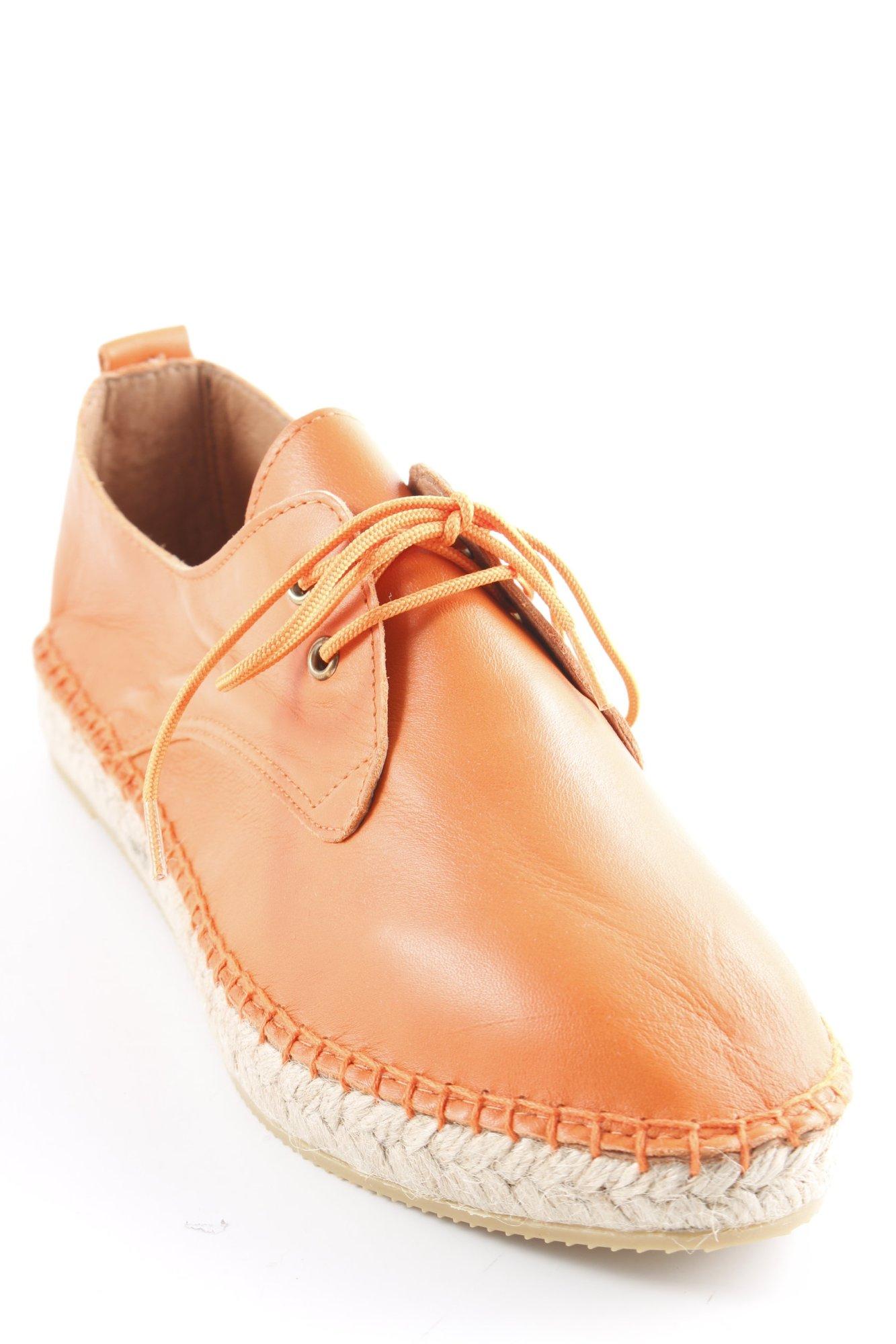 Act. Espadrilles-Sandales Orange Fluo Casual-Look Femmes Taille FR 40 sandals en cuir