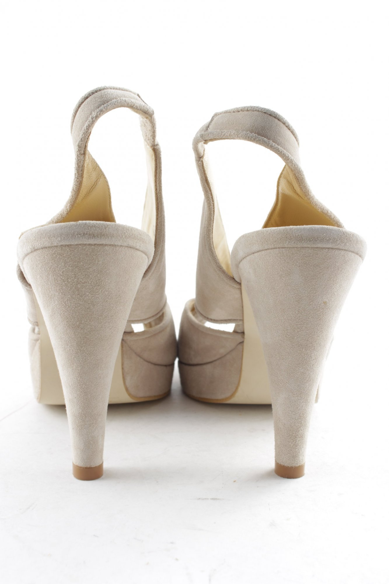 Scarpe sandali Pelle Beige Alba Moda Tg 4 37