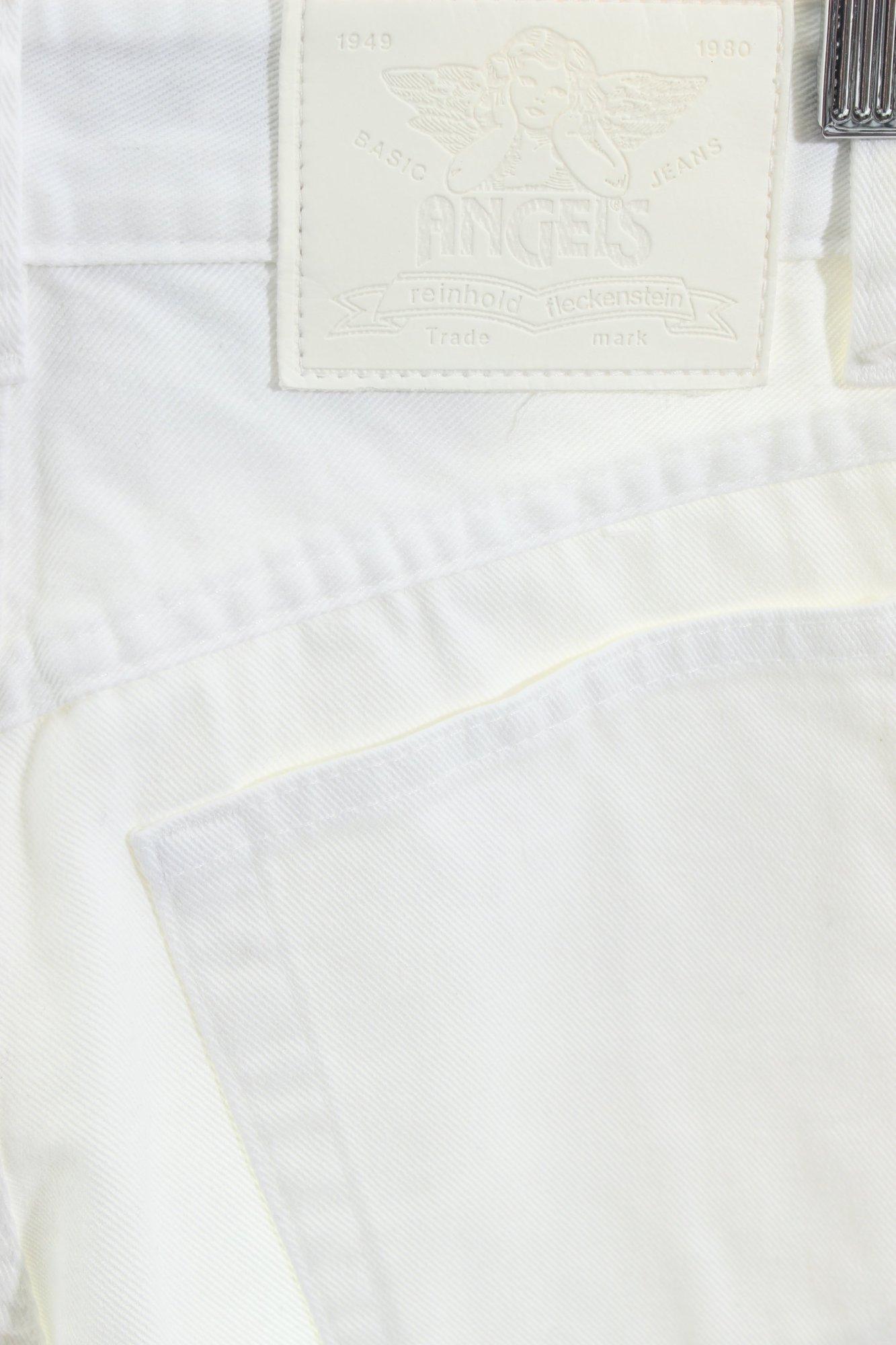 ANGELS-Pantalon-taille-haute-blanc-style-retro-Dames-T-36-coton