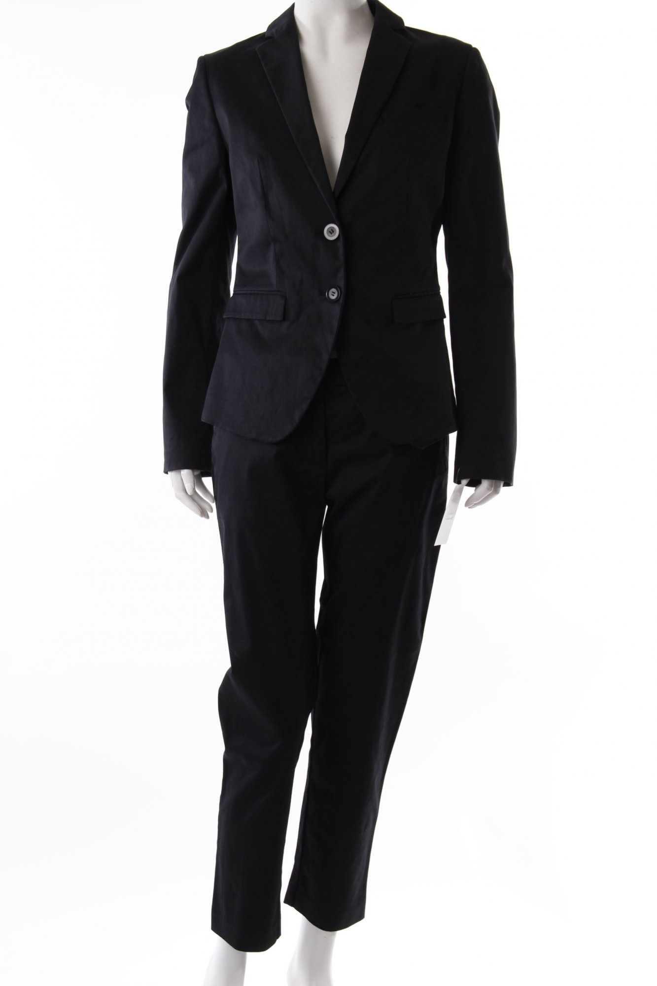 benetton hosenanzug schwarz damen gr de 38 anzug suit trouser suit ebay. Black Bedroom Furniture Sets. Home Design Ideas
