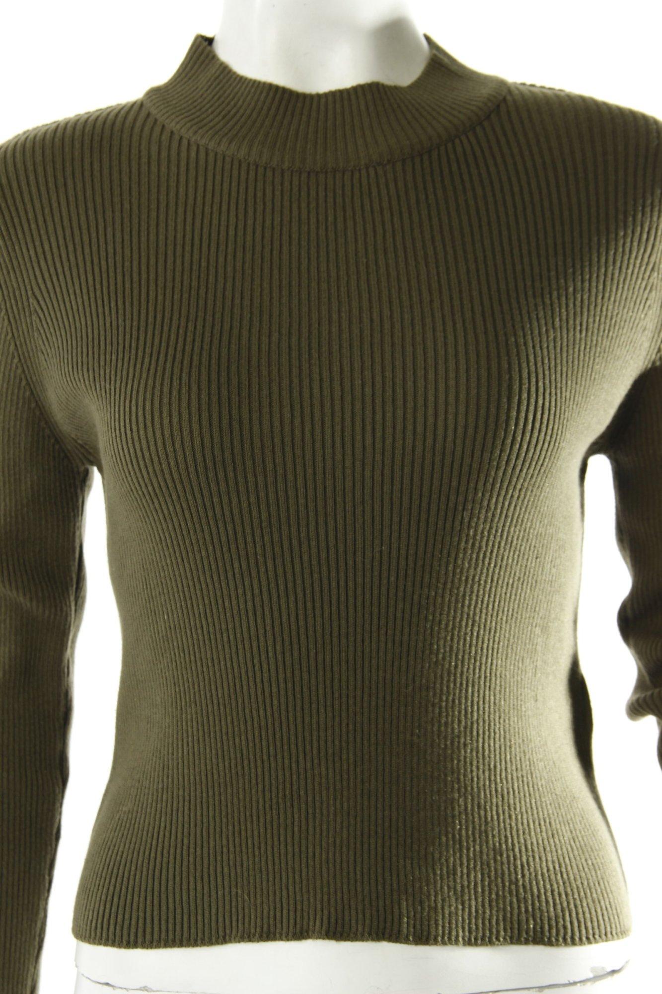 BIK BOK Cropped Pullover mit Rollkragen Damen Gr. DE 36 olivgrün Sweater - <span itemprop='availableAtOrFrom'>Stuttgart, Deutschland</span> - Vollständige Widerrufsbelehrung Rücknahme akzeptiert. Innerhalb Deutschland für Käufer kostenlos. - Stuttgart, Deutschland