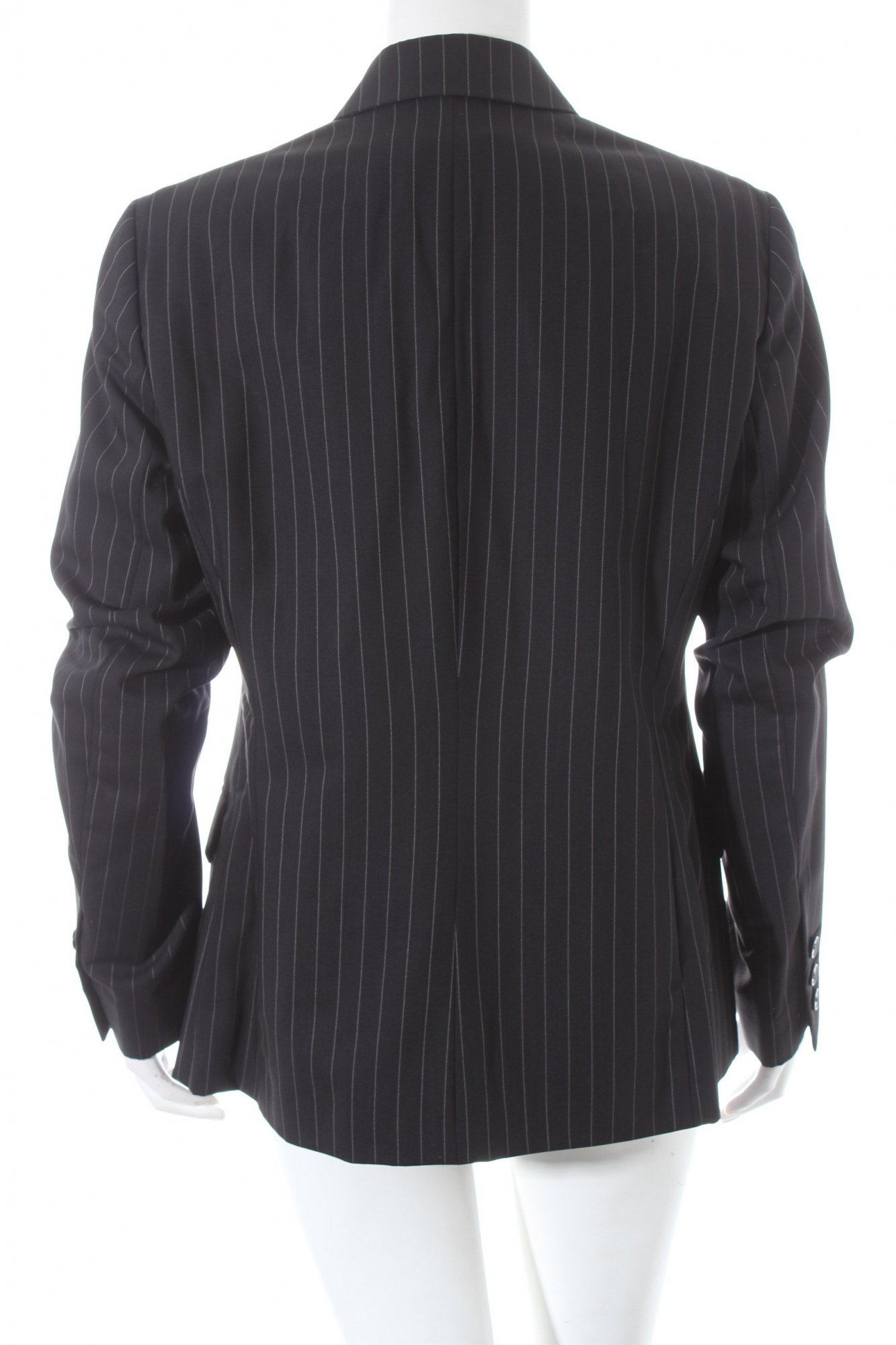 Klein Fine Noir blanc Calvin Blazer Rayure Style D fwxqddRCX