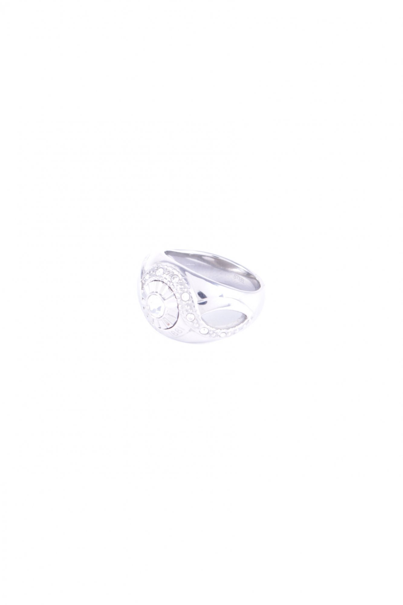 CERRUTI-Statement-Ring-silver-colored-wet-look-Women-s-Size-UK-55