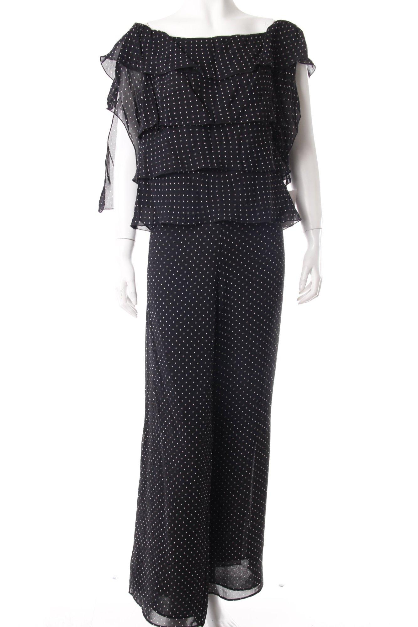 citrine zweiteiler gepunktet damen gr de 40 schwarz anzug suit kost m ebay. Black Bedroom Furniture Sets. Home Design Ideas