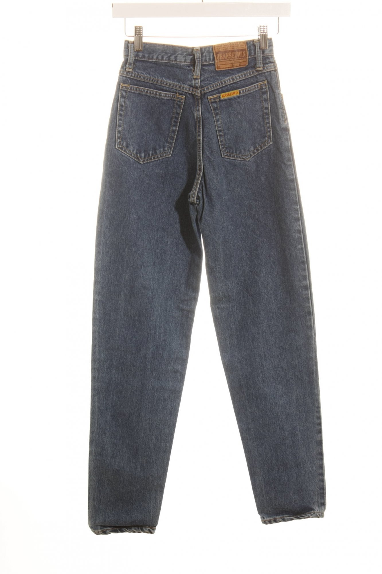 EDWIN-Jeans-taille-haute-bleu-style-decontracte-Dames-T-36-coton