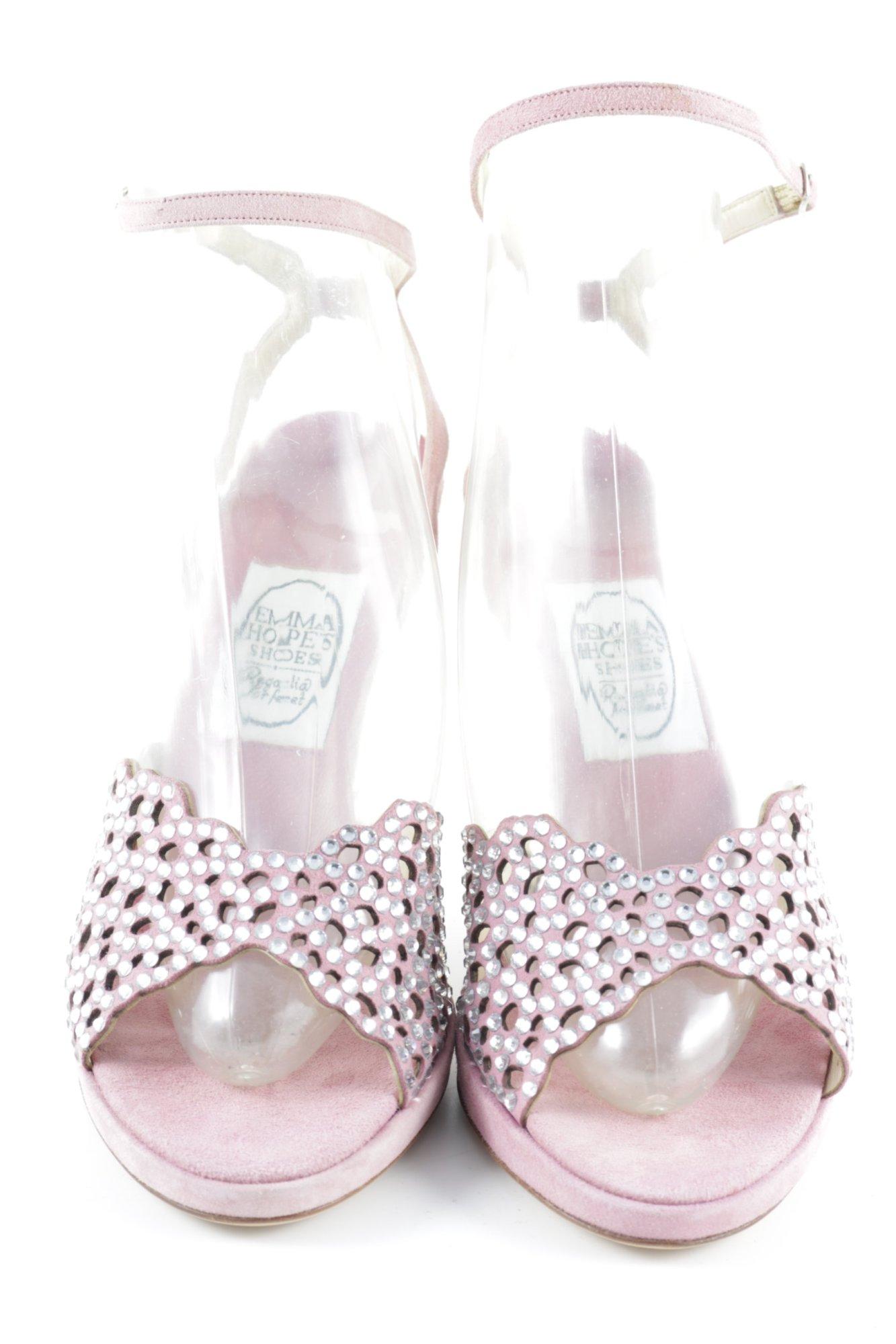 EMMA HOPE Tacco alto rosacrema motivo a pallini elegante Donna Taglia IT 40
