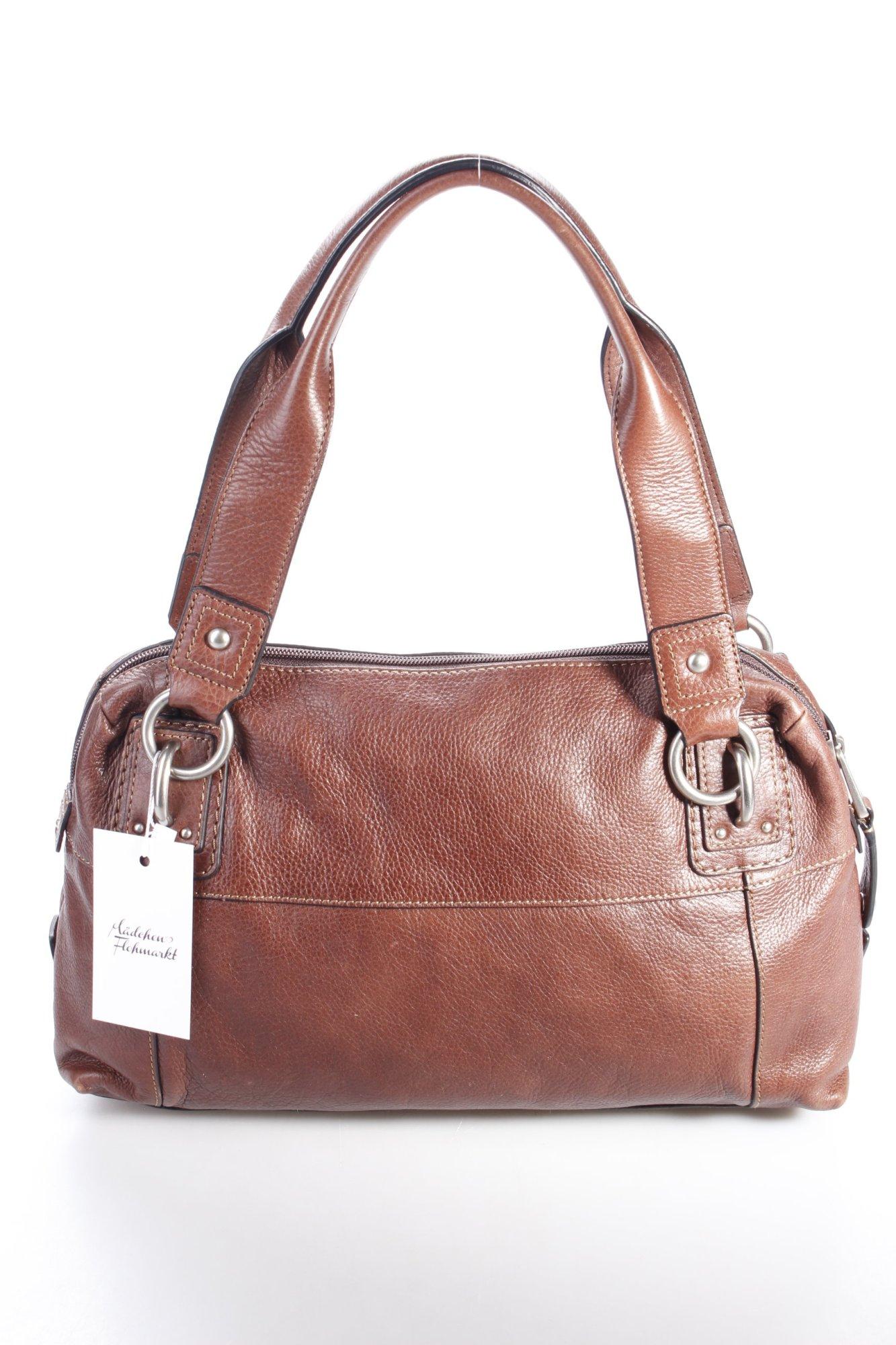 fossil henkeltasche braun damen tasche bag leder leather. Black Bedroom Furniture Sets. Home Design Ideas