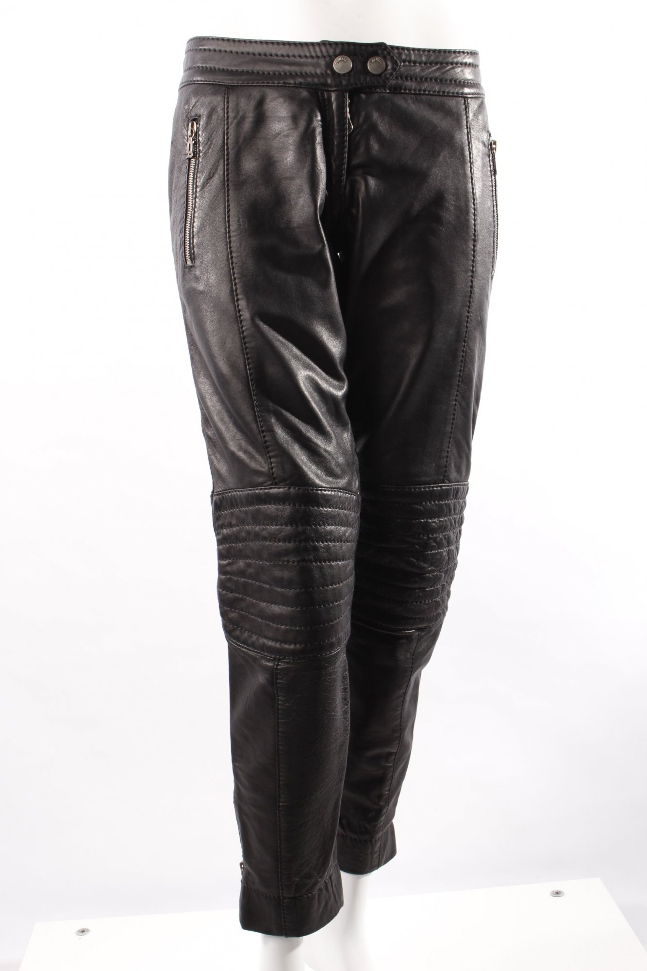 galliano biker hose leder damen gr de 38 schwarz trousers. Black Bedroom Furniture Sets. Home Design Ideas
