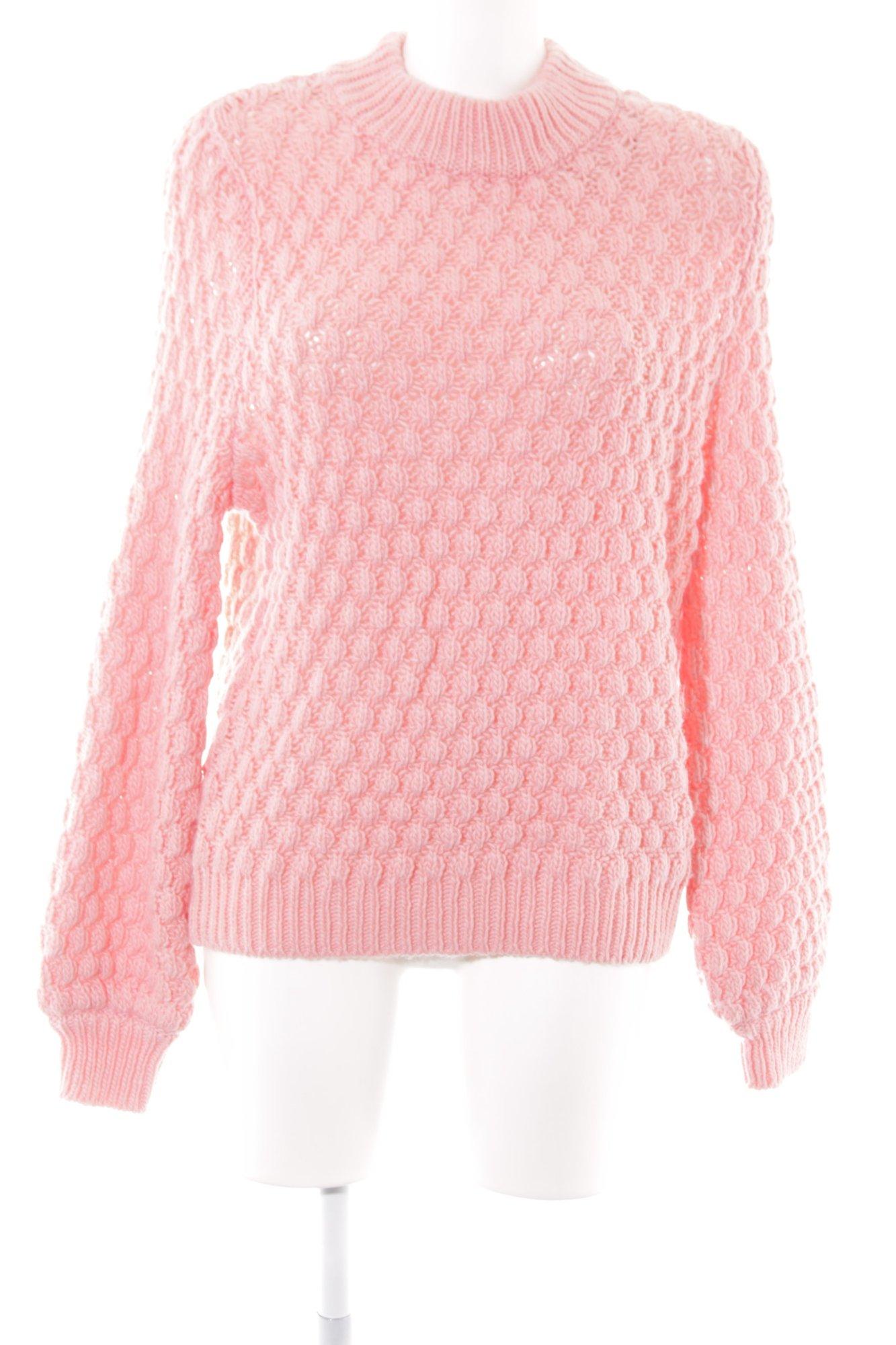 scarpe di separazione a57e4 f8d13 Dettagli su H&M Pullover a maglia grossa rosa stile casual Donna Taglia IT  42 Maglione