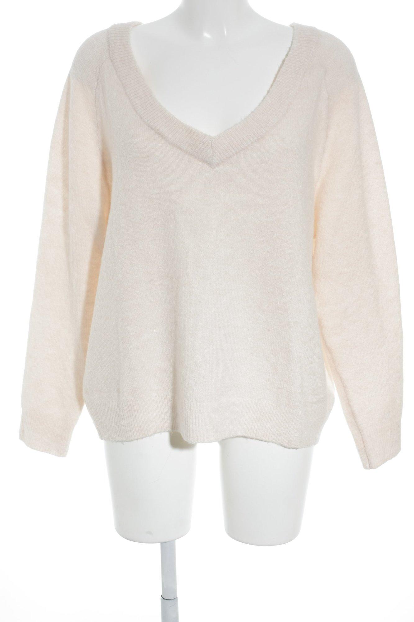 low priced 1f5df bea22 Dettagli su H&M Maglione con scollo a V rosa pallido stile romantico Donna  Taglia IT 42