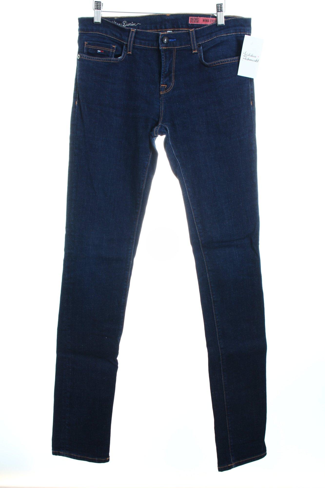hilfiger denim skinny jeans nina skinny dunkelblau damen. Black Bedroom Furniture Sets. Home Design Ideas