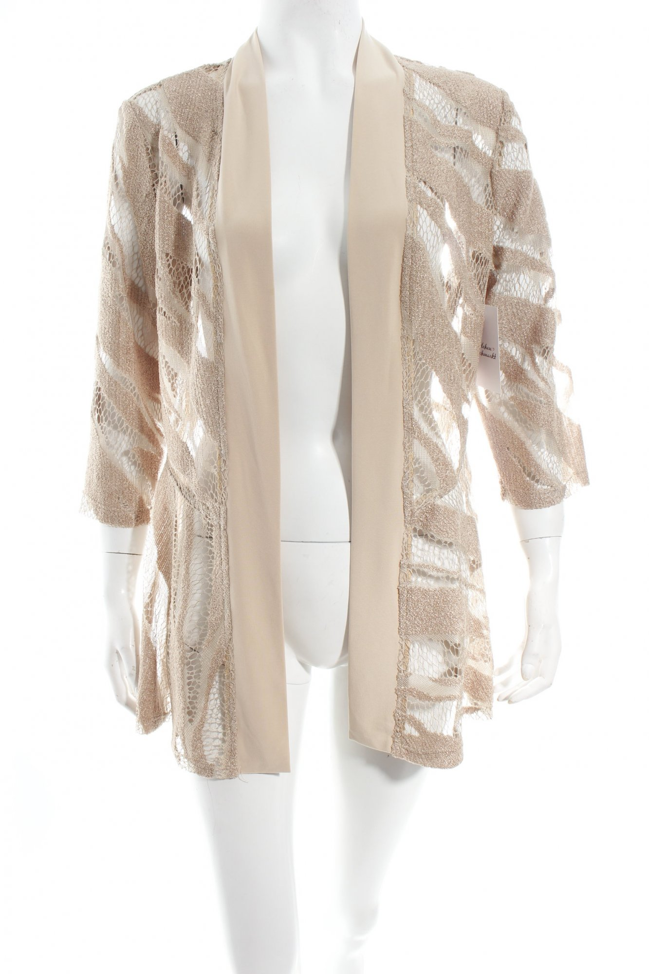 jacke beige struktur optik damen gr de unknown jacket ebay. Black Bedroom Furniture Sets. Home Design Ideas