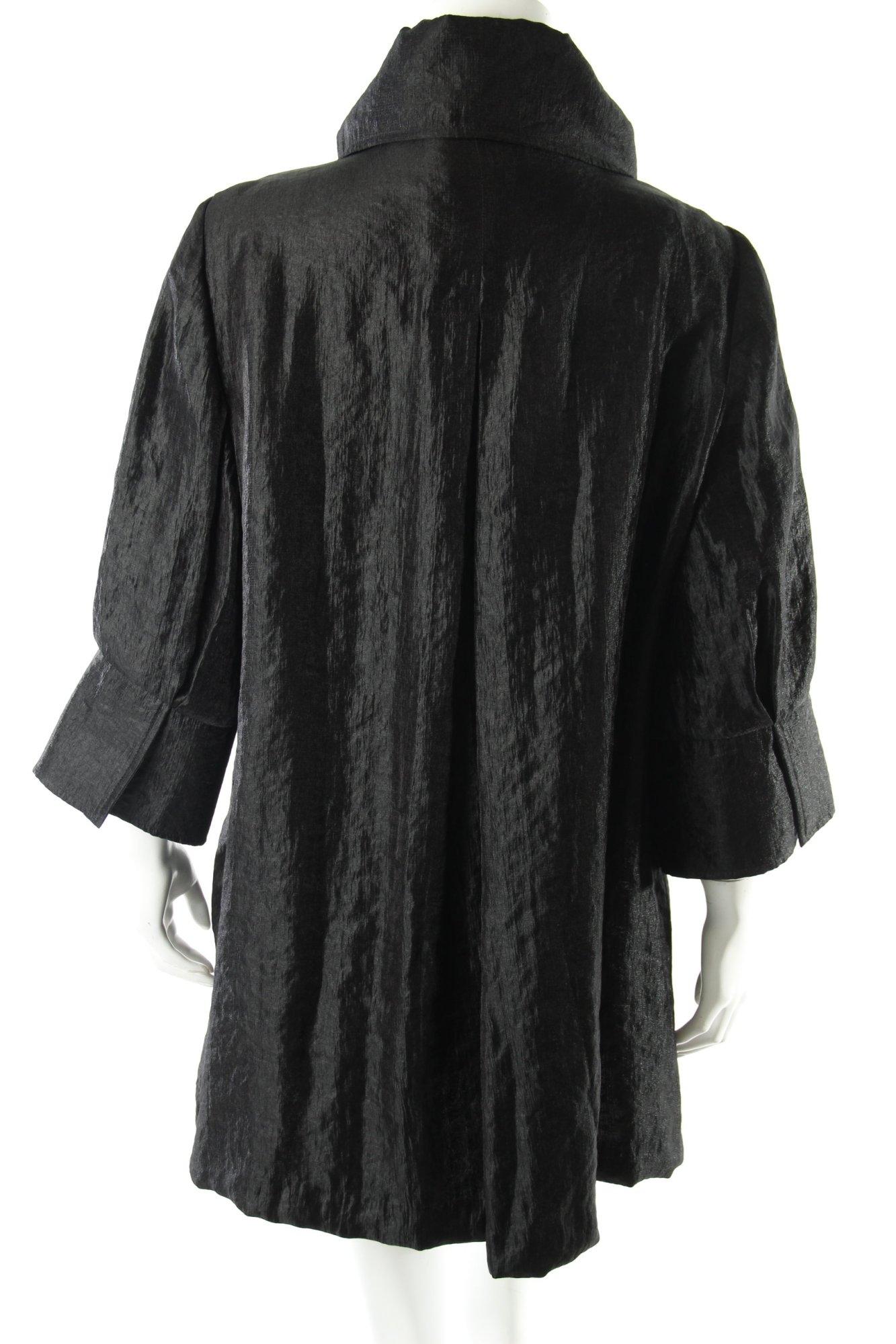 joseph ribkoff mantel schwarz glanz optik damen gr de 40 coat ebay. Black Bedroom Furniture Sets. Home Design Ideas
