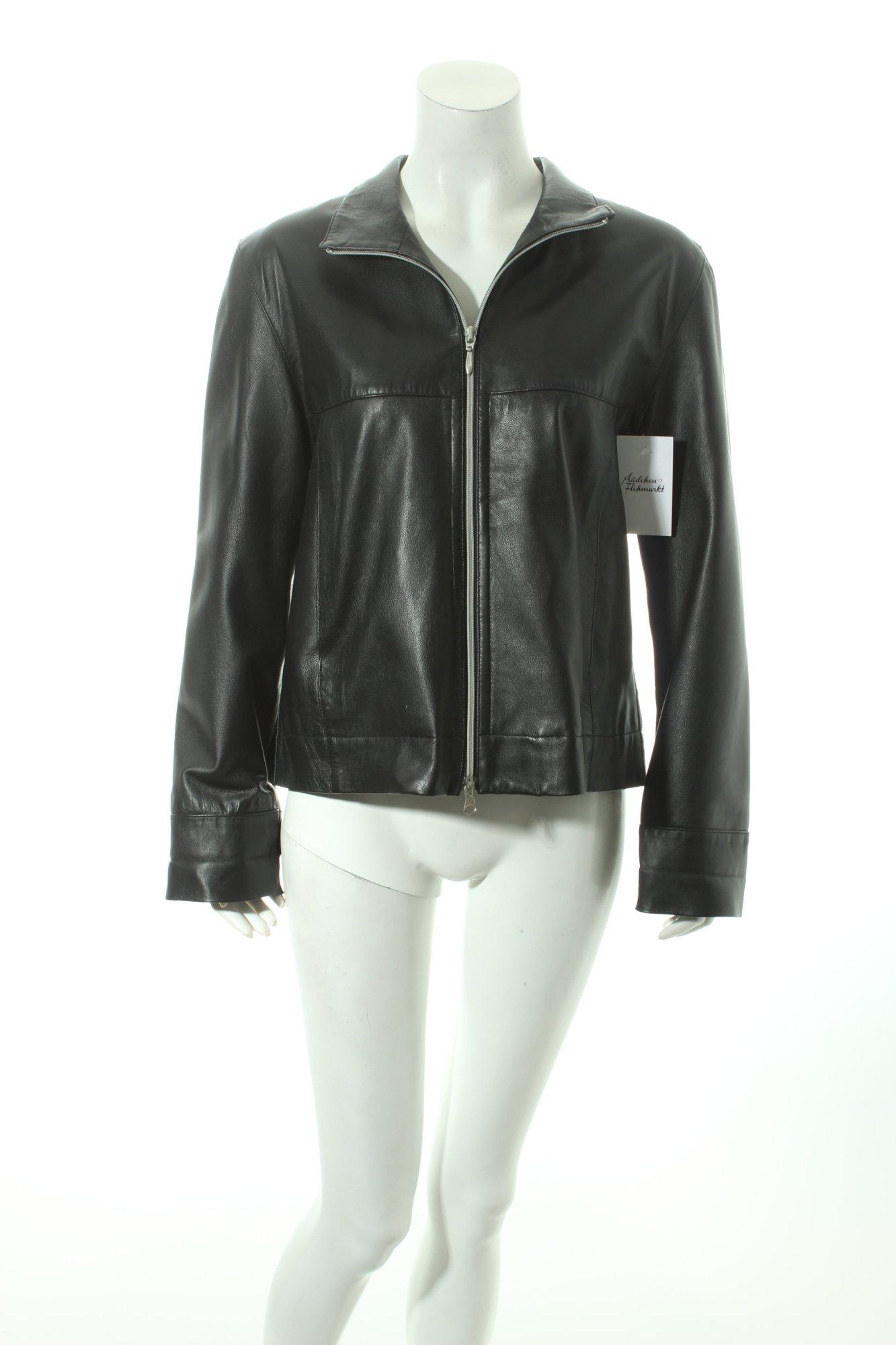 leder walter lederjacke schwarz biker look damen gr de 38 jacke jacket ebay. Black Bedroom Furniture Sets. Home Design Ideas