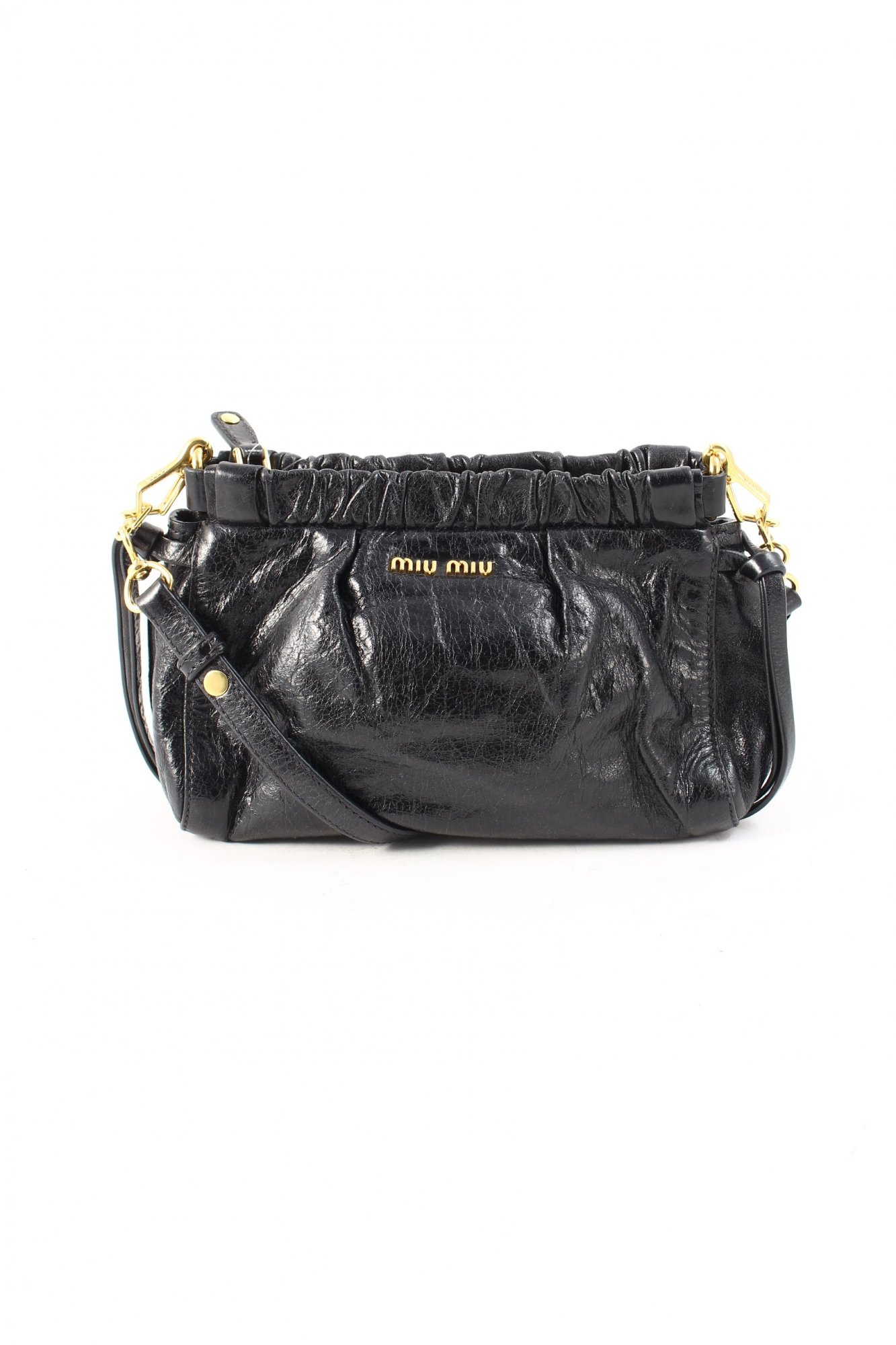 miu miu umh ngetasche schwarz elegant damen tasche bag leder crossbody bag ebay. Black Bedroom Furniture Sets. Home Design Ideas