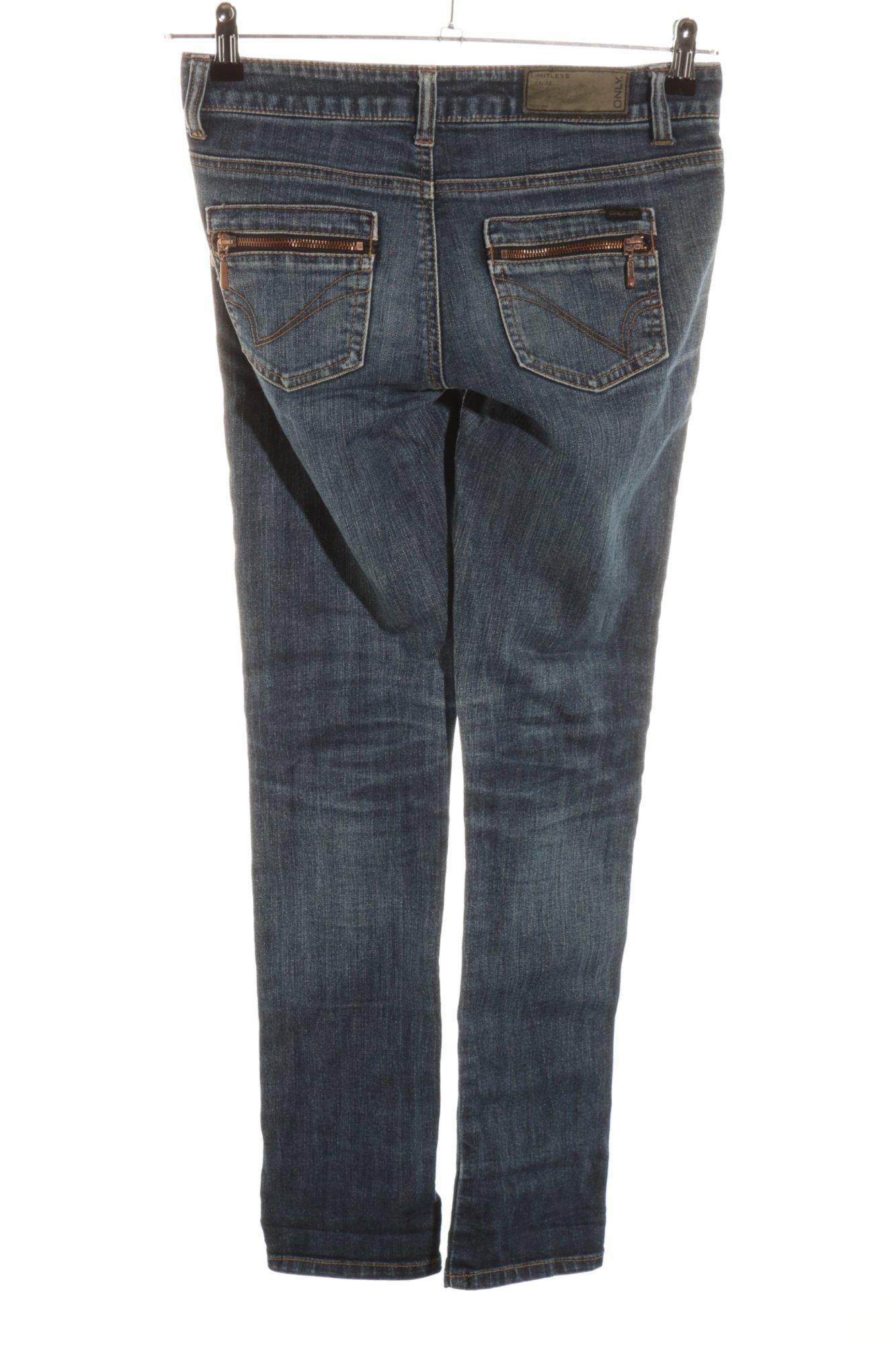 ONLY-Jeans-taille-basse-gris-clair-gradient-de-couleur-style-decontracte-Dames miniature 2