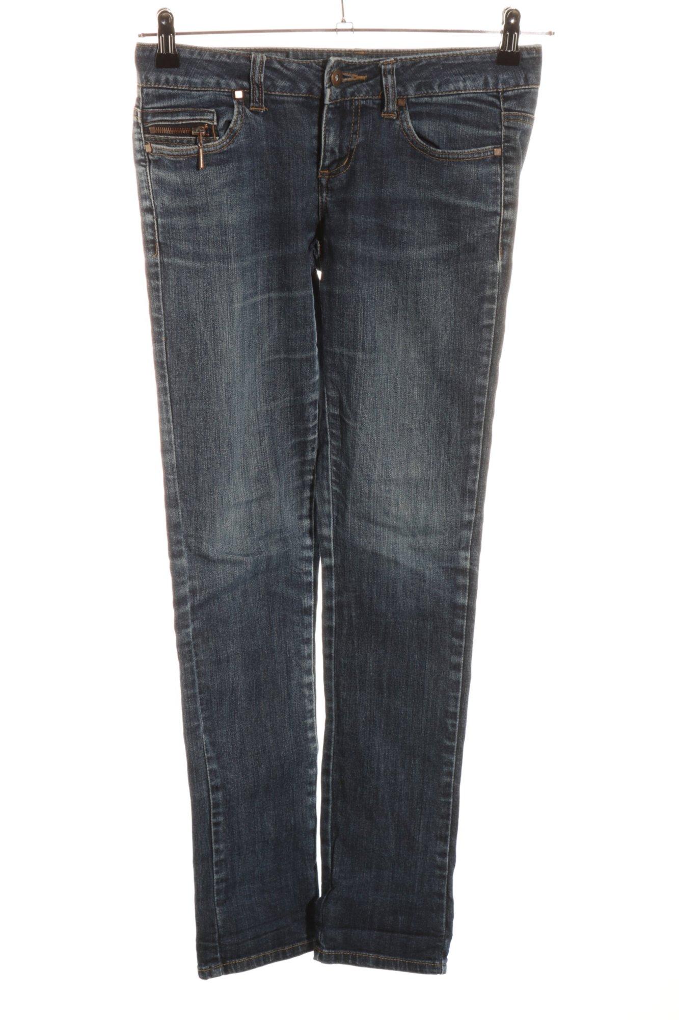 ONLY-Jeans-taille-basse-gris-clair-gradient-de-couleur-style-decontracte-Dames