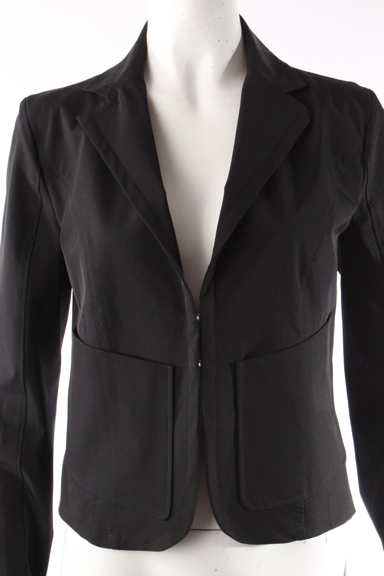 patrizia pepe blazer schwarz damen gr de 36 smoking. Black Bedroom Furniture Sets. Home Design Ideas