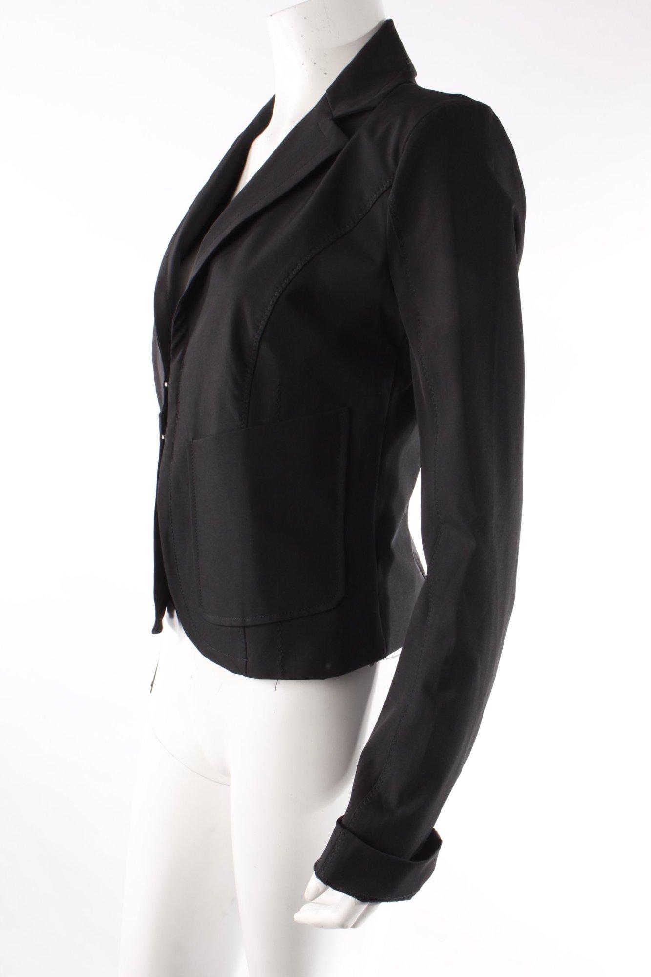 patrizia pepe blazer schwarz damen gr de 36 smoking blazer tuxedo blazer ebay. Black Bedroom Furniture Sets. Home Design Ideas