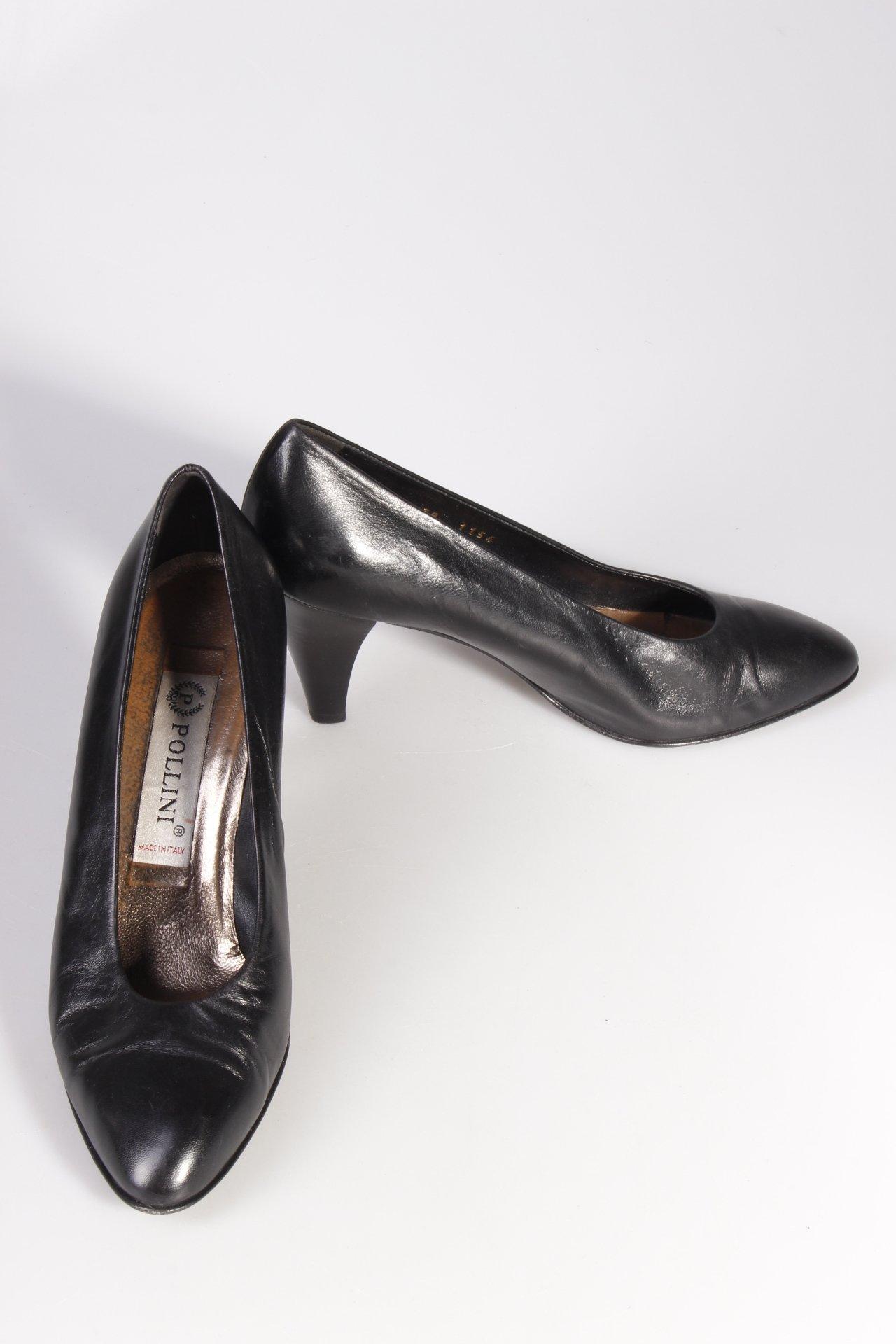 POLLINI Pumps schwarz Schuhes Damen Gr. DE 38 Schuhe Schuhes schwarz Leder Damenschuhe 00e0ac