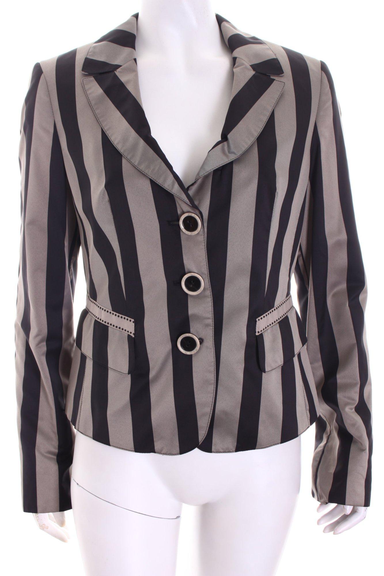 TAIFUN Blazer noir-gris brun T motif rayé Dames T brun 38 454d0a