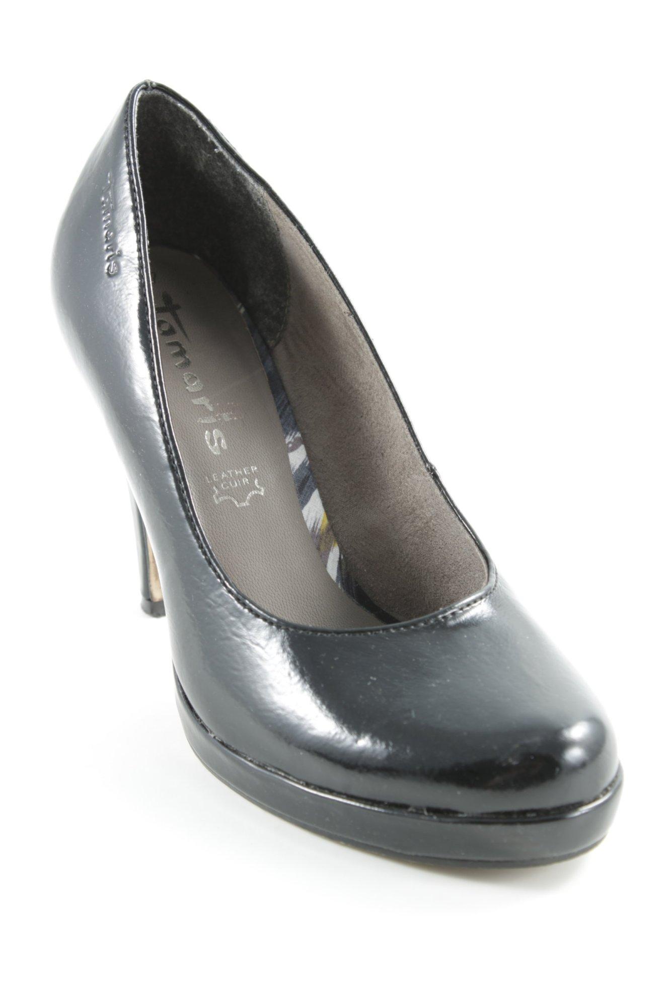 a2f7aba475e2d5 TAMARIS Talons hauts noir style cuir Dames T 37 Escarpins Chaussures pour  femmes