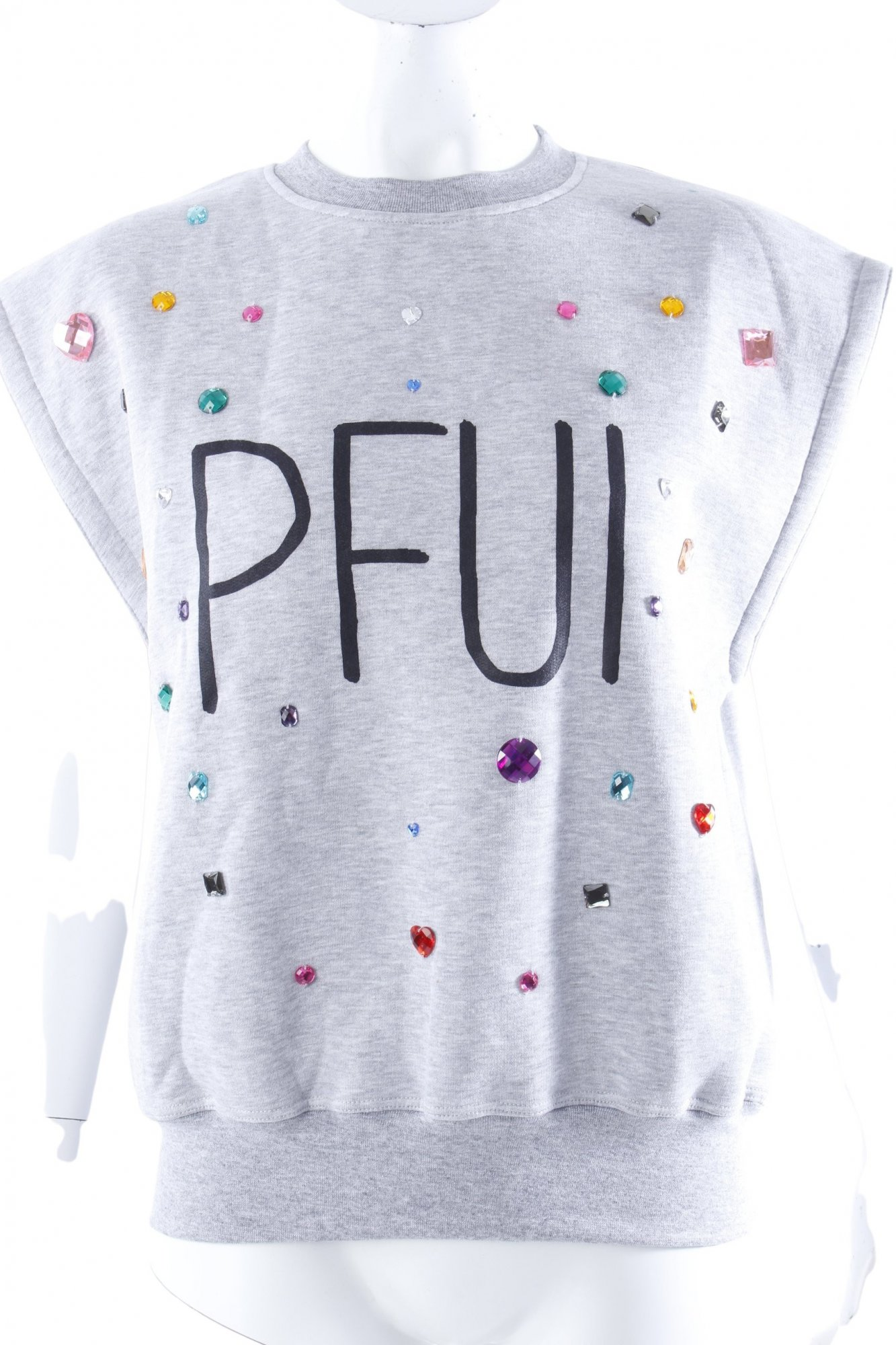 I The Women's Shit senza Sweatshirt maniche Grau gr Sweat De pfui 38 6f0q6