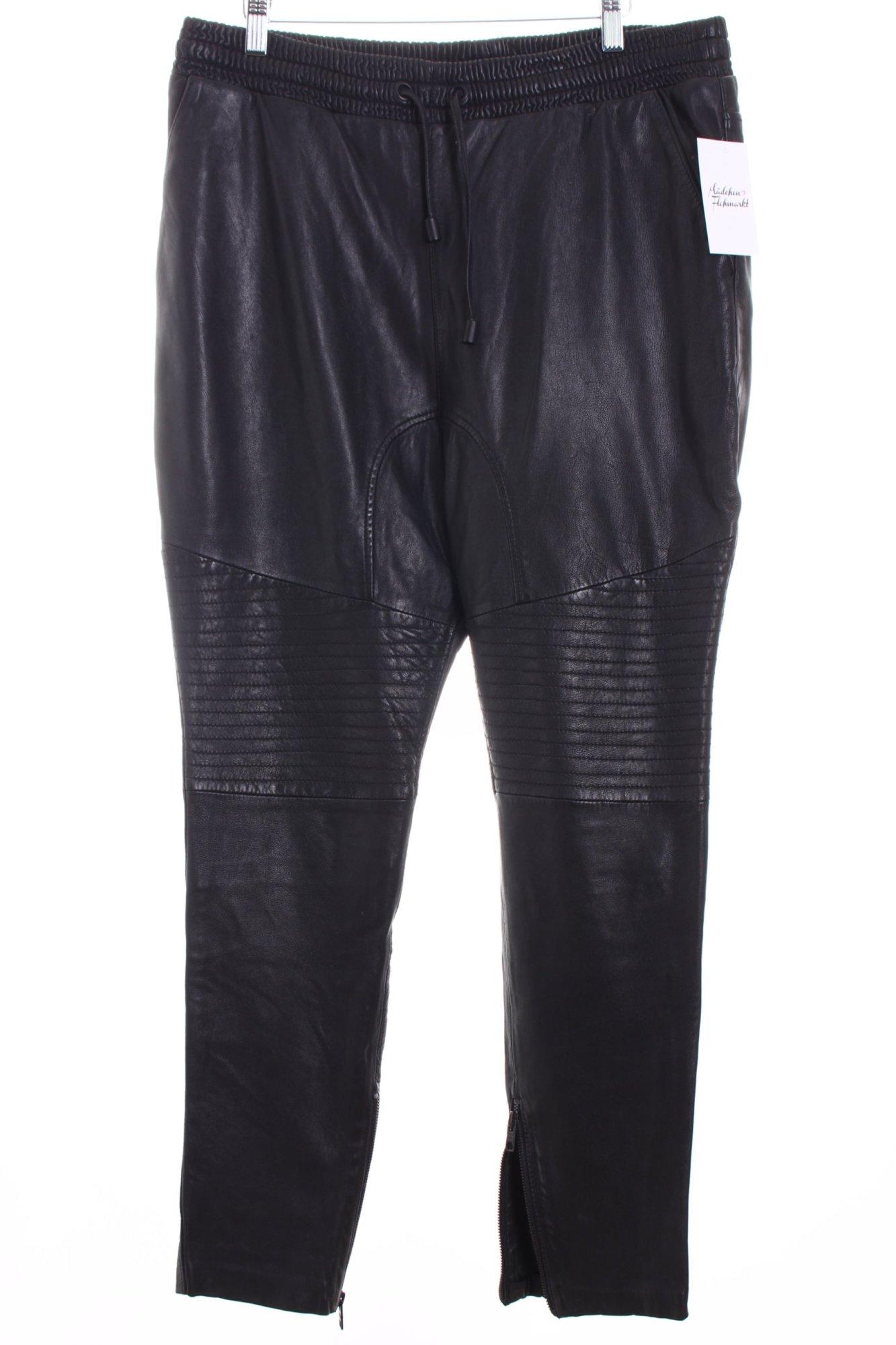 tigha lederhose schwarz biker look damen gr de 42 hose trousers leder ebay. Black Bedroom Furniture Sets. Home Design Ideas