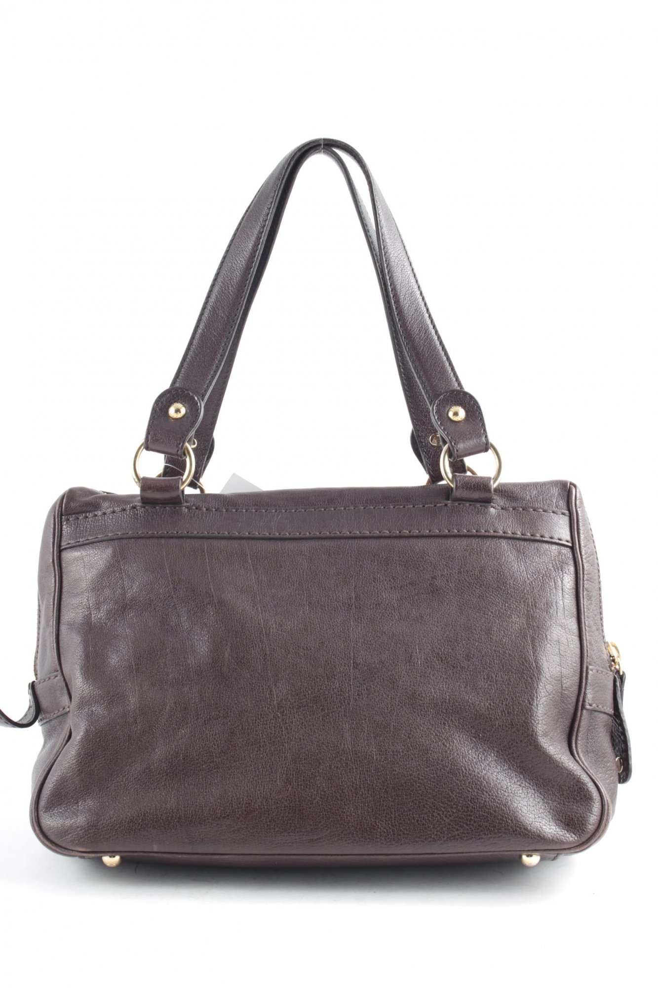 TOD-S-Bolso-barrel-marron-look-casual-Mujeres-Bolsa