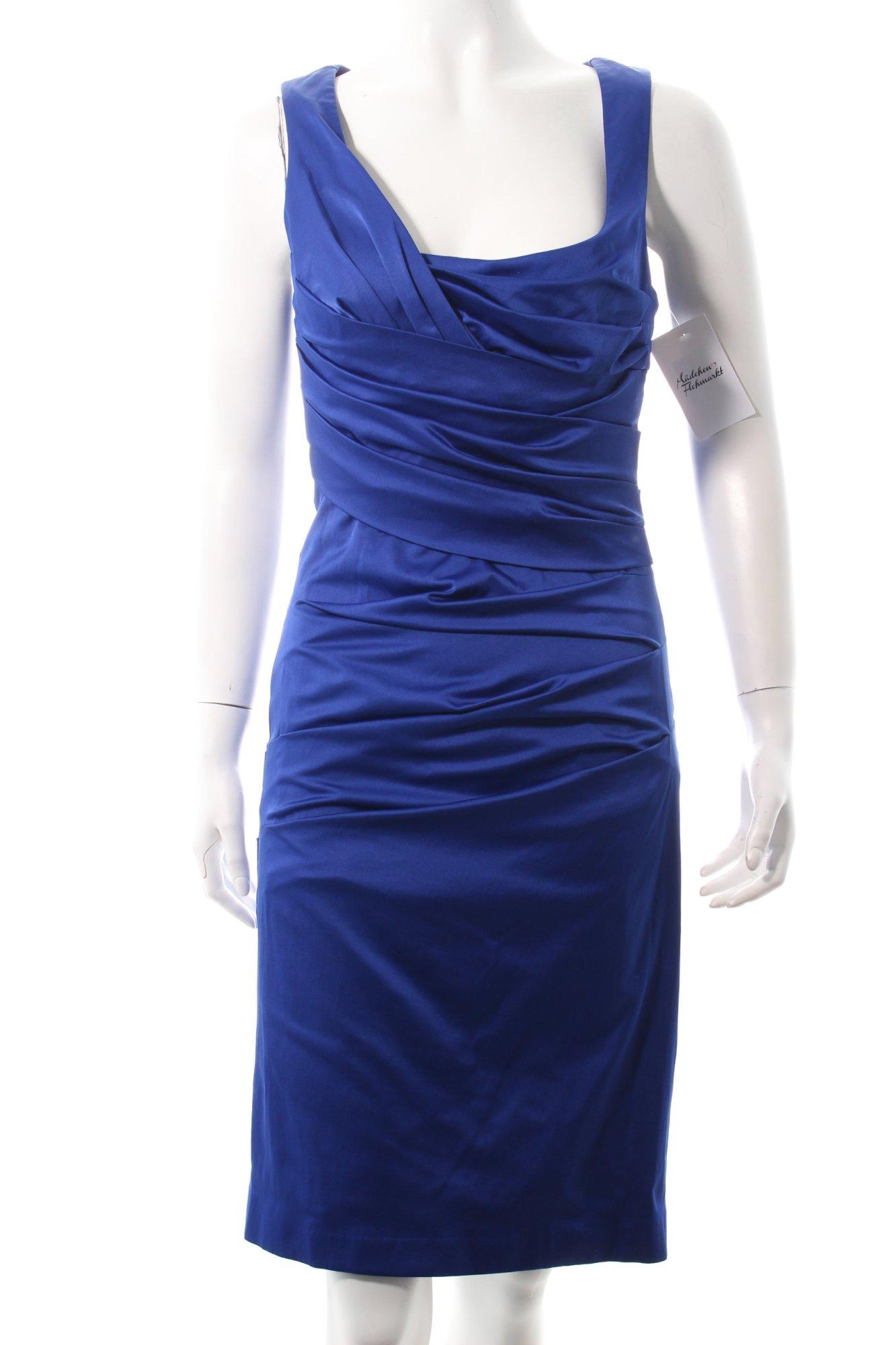 vera mont cocktailkleid blau eleganz look damen gr de 36. Black Bedroom Furniture Sets. Home Design Ideas