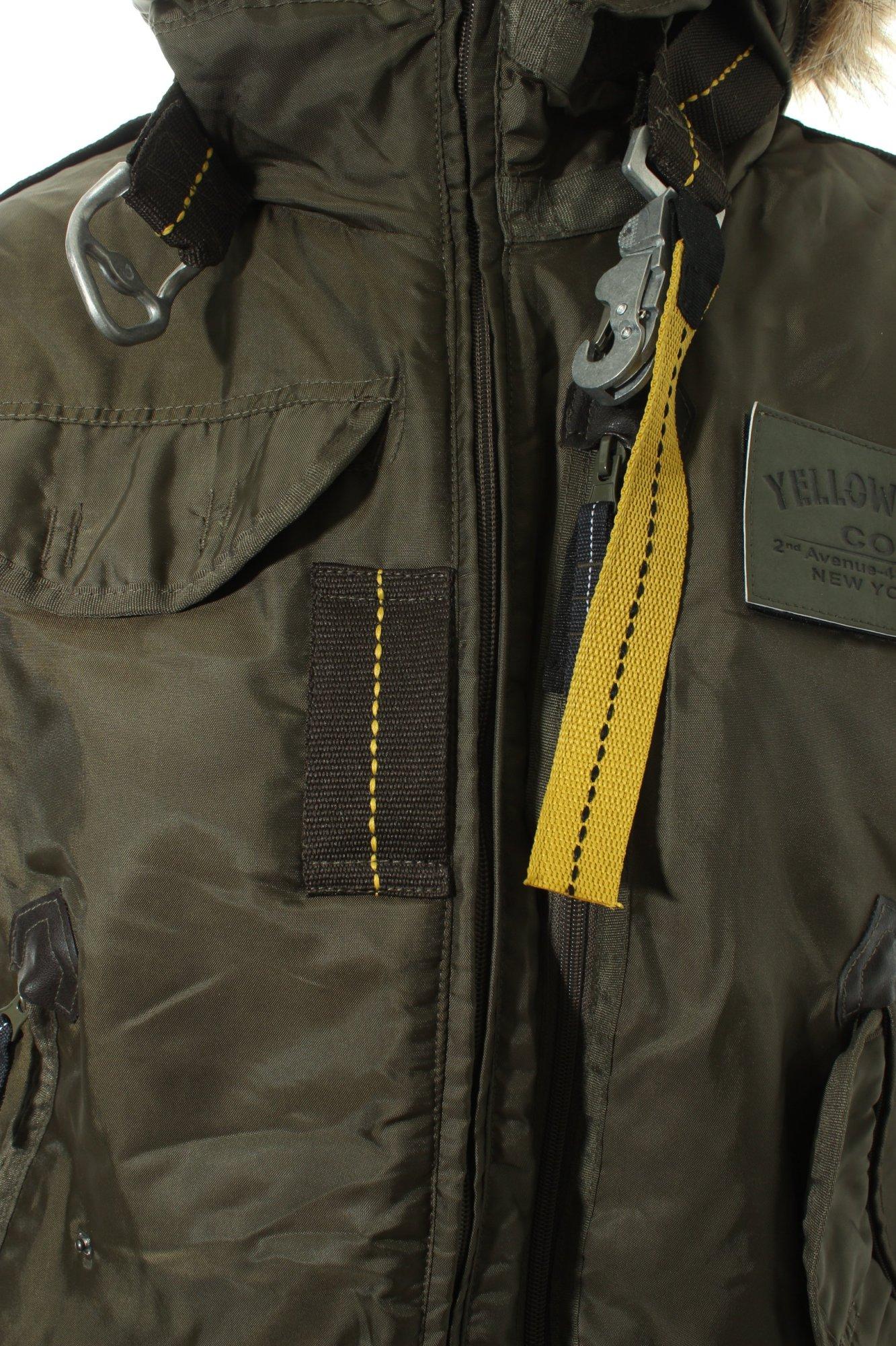 YELLOW-CAB-Chaqueta-militar-verde-oscuro-look-militar-Mujeres-Talla-EU-38