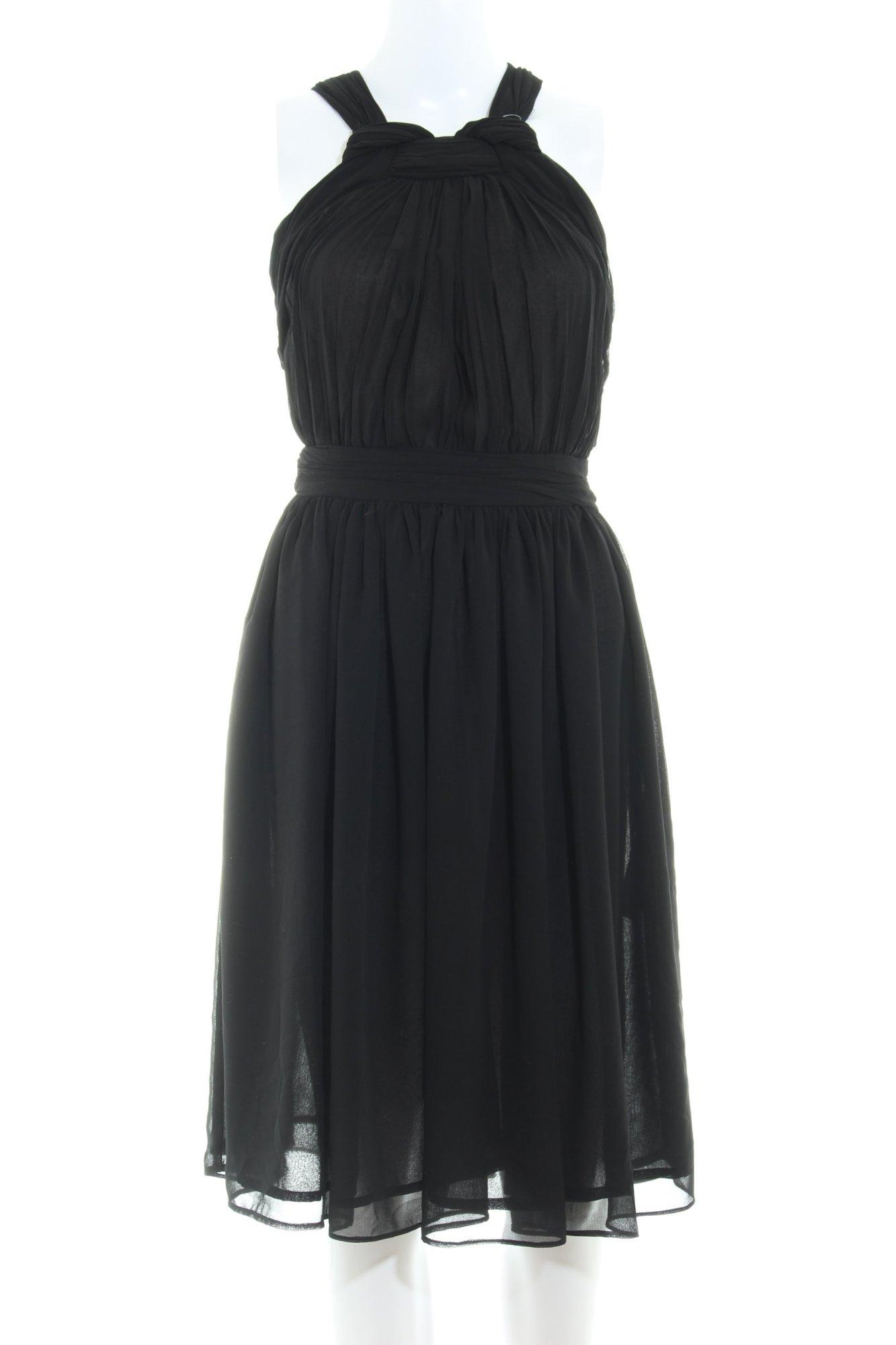 details zu zara basic trägerkleid schwarz elegant damen gr. de 34 kleid  dress
